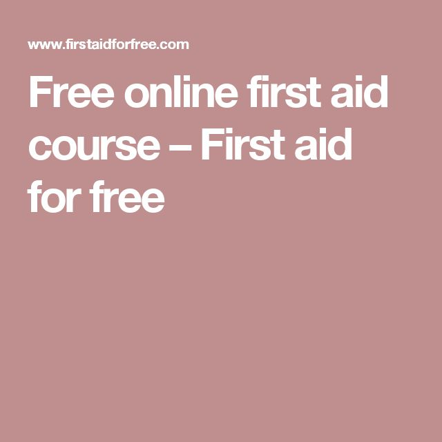 Free online first aid course – First aid for free