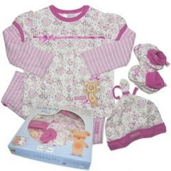 Licensed Wibbly Pig four piece gift set with long sleeve top, leggings, beanie and booties. Sizes 000, 00, 0 & 1.