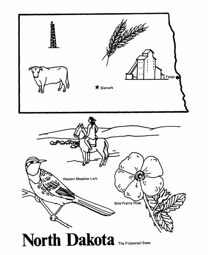 south dakota coloring pages - 17 best images about state outlines on pinterest west