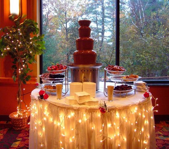 A chocolate fountain to dream about at the Chula Vista Resort.