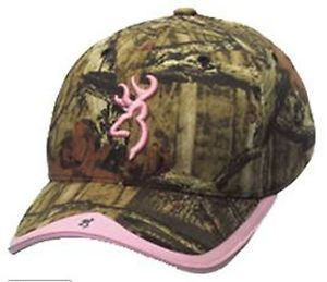 Browning Pink Camo Mossy Oak Infinity Buckmark Logo Baseball Cap