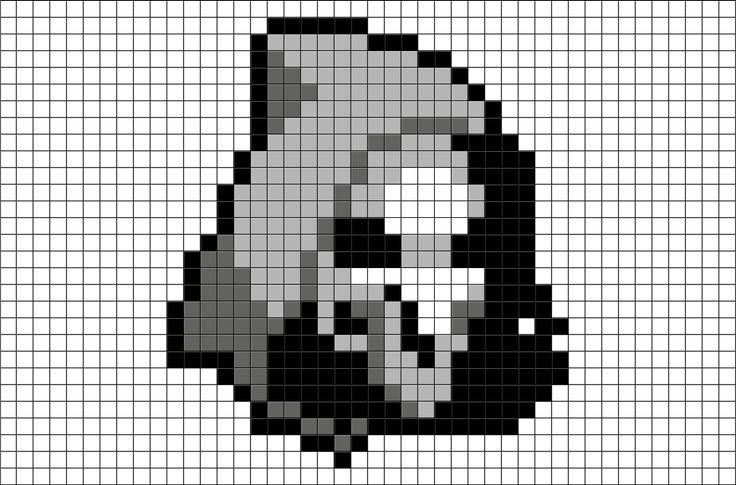 Overwatch Reaper Pixel Art from BrikBook.com #Overwatch #Reaper #assassin #Mercenary #pixel #pixelart #8bit Shop more designs at http://www.brikbook.com