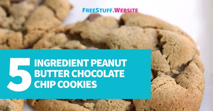 5 Ingredient Peanut Butter Chocolate Chip CookiesOnly five ingredients in these super chewy peanut butter cookies. Add some milk chocolate chips to put them over the top delicious.