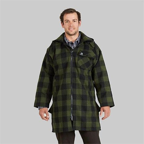 Swanndri Men's Mosgiel Wool Bushshirt with Zip-up front