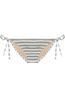 J.Crew  Striped stretch-cotton bikini briefs: Beachreadi Swimsuits