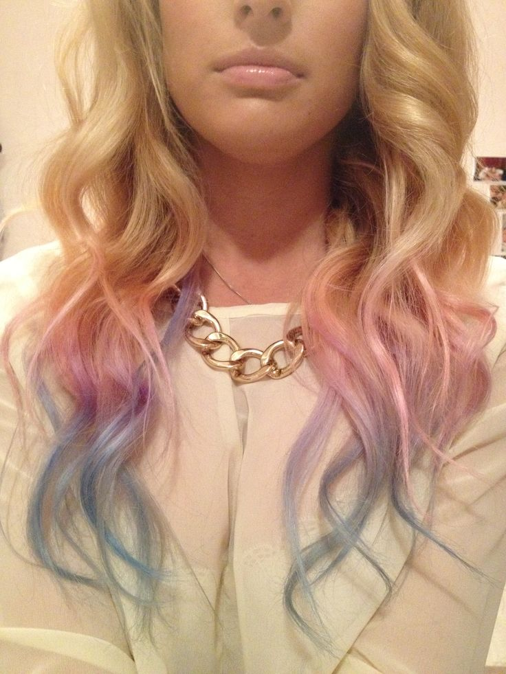 DIY Pink-Purple-Blue dip dye