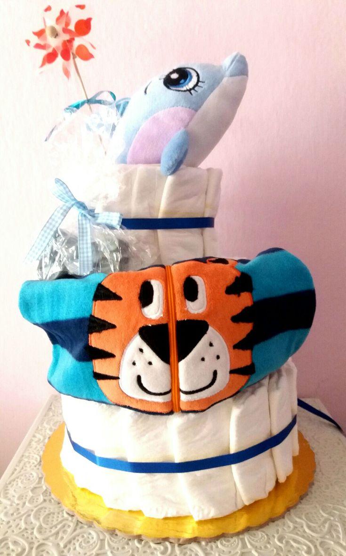 Diapercake for boy 🎩