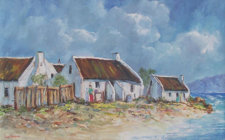 Buy Cottages with a Seaview, Oil painting by Louis Pretorius on Artfinder. Discover thousands of other original paintings, prints, sculptures and photography from independent artists.