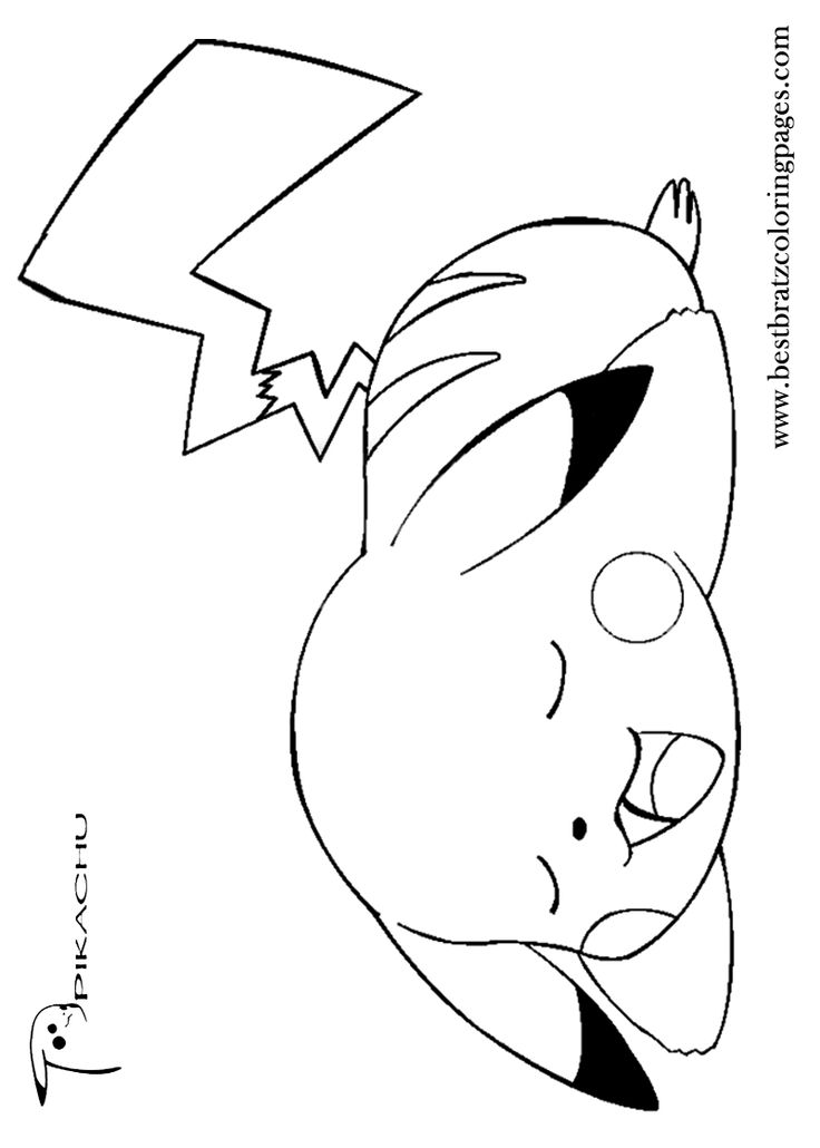 Free Printable Pikachu Coloring Pages For Kids Coloring