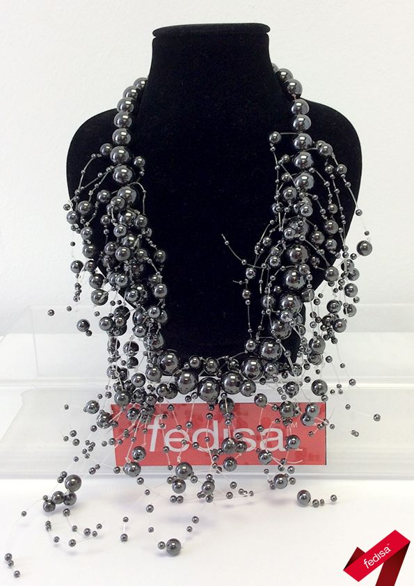 Statement jewellery accessory piece created by hand and influenced by the Chanel brand [2nd year student 2015]