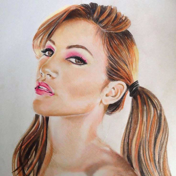 Jenifer Lee - Art Jenifer Lopez Portrait Polychromos