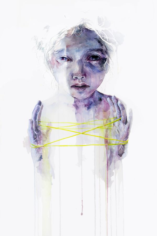 "Silvia Pelissero, alias Agnes- Cecile. ""The game of making structures"", 2012. Acuarela."