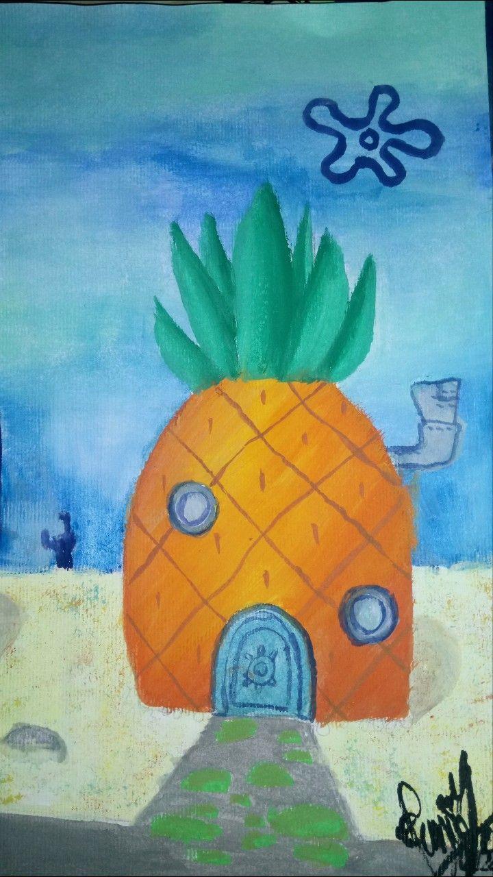 Spongebob House Painting : spongebob, house, painting, Spongebob's, House, Spongebob, House,, Drawings, Sketches, Simple,