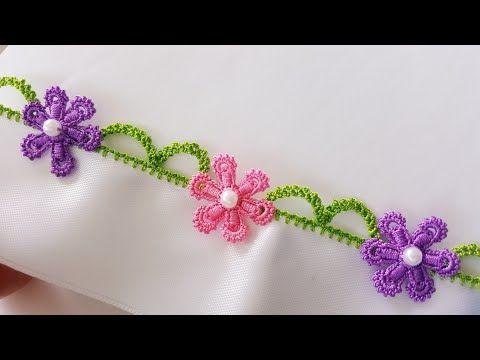 Köprülü motifli incili Tığ Oyası Yapımı - YouTube