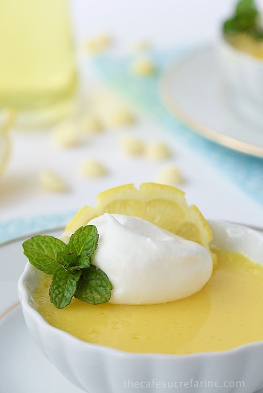 Lemon and White Chocolate Pots de Crème - do you have 10 minutes? That's all it takes (hands on time) to whip up this beautiful, elegant and super delicious dessert!