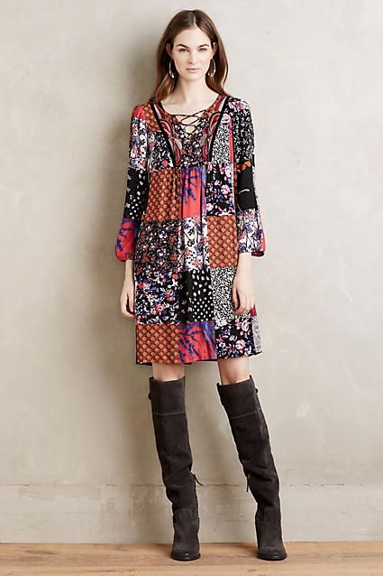 Arcata patchwork dress at Anthropologie