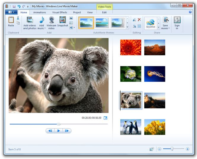 how to make a backwards video on windows movie maker