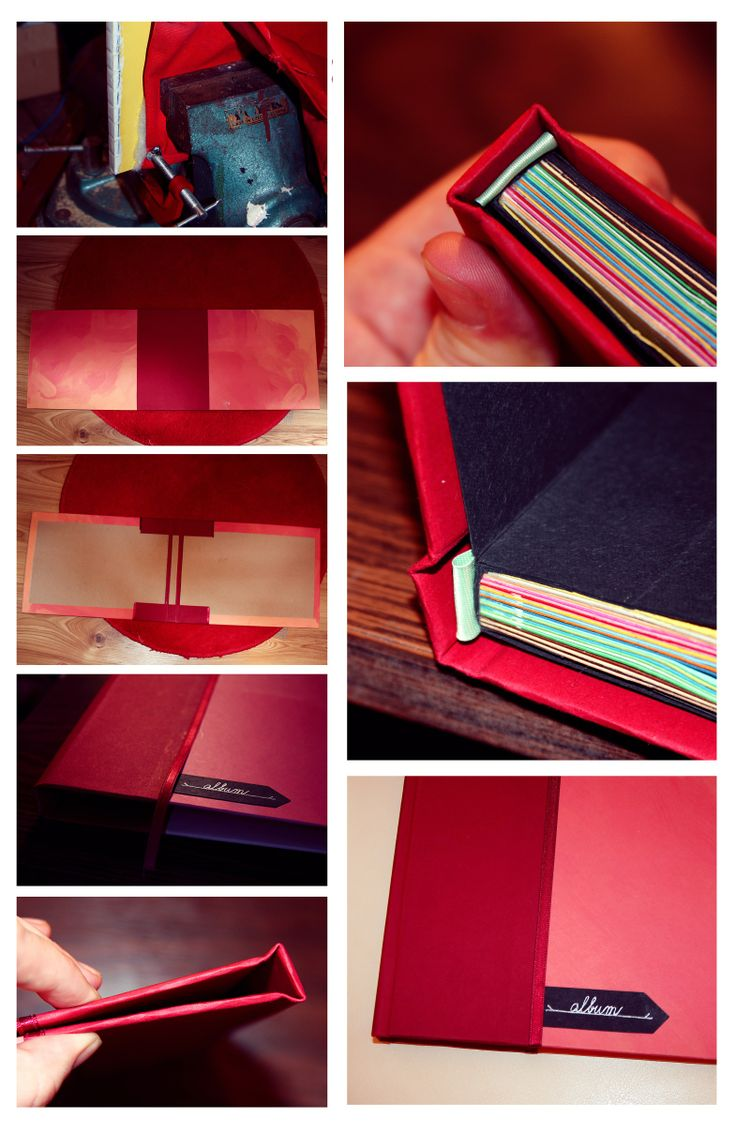 My third homemade photo album, glued and tied with a thread, hard cover with ribbon book headbands. Opens perfectly, finally! :) /DIY/