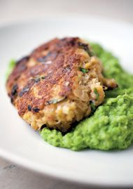 Slater crab cakes    http://www.guardian.co.uk/lifeandstyle/2011/may/15/nigel-slater-recipes-favourite-popular#