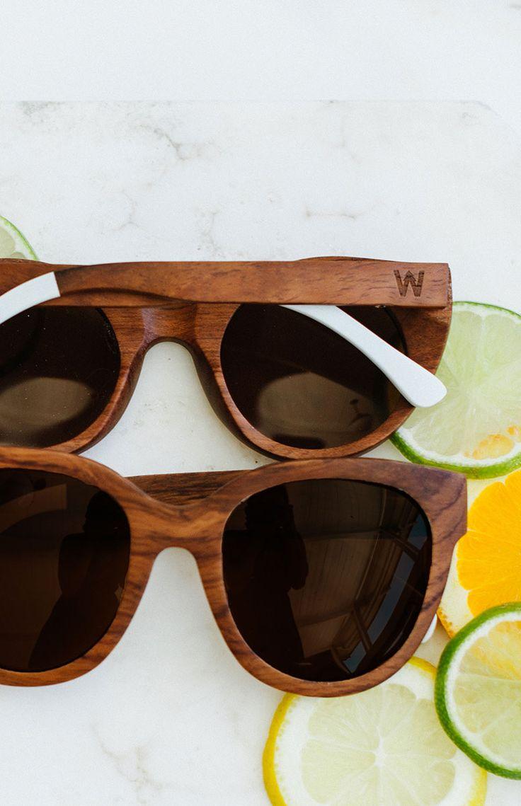 Woodzee Chloe - Wooden Sunglasses - Oversized Womens Sunglasses.