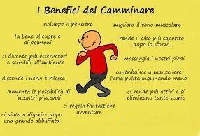 Tutti i benefici del #camminare