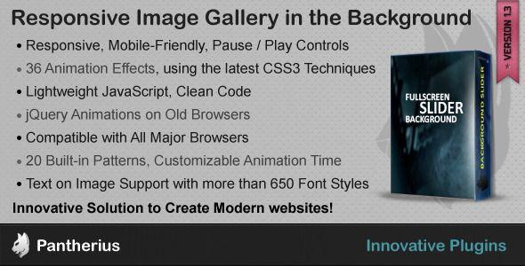FullScreen Background #Slider – #jQuery SlideShow