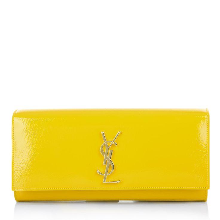 Saint Laurent YSL Monogramme Bag in Yellow. Fashionette.de