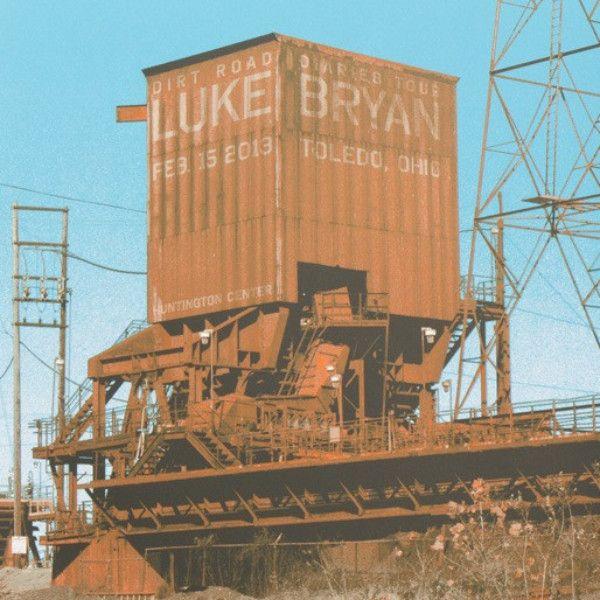 Luke Bryan - 2013 Crosshair Design poster Toledo, OH Huntington