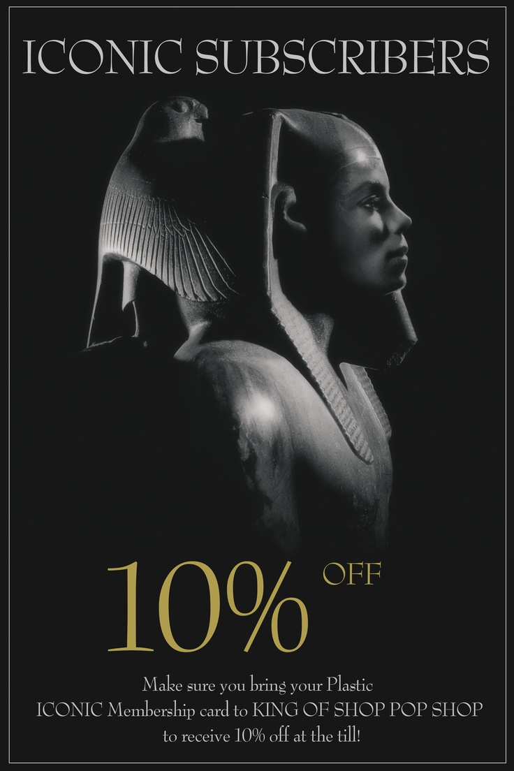 10% OFF for Iconic Magazine Subscribers at the pop-up shop in London this week-end!