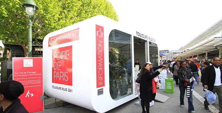 Pop up  store Vintage transformé en point d'information XXL pour la Foire de Paris