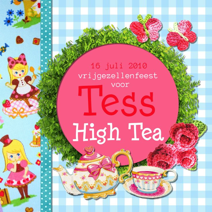 High Tea invitation by www.addsomecolor.info
