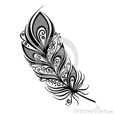 Oiseau abstrait de plume