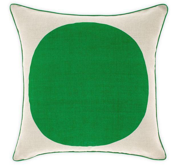 big spot linen cushion