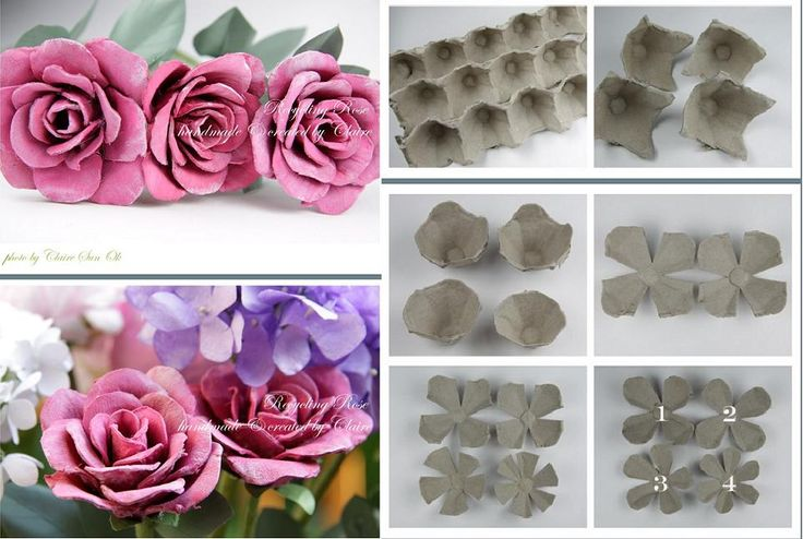 How to recycle Egg packing Boxes into beautiful rose flowers step by step DIY tutorial instructions, How to, how to do, diy instructions, crafts, do it yourself, diy website, art project ideas