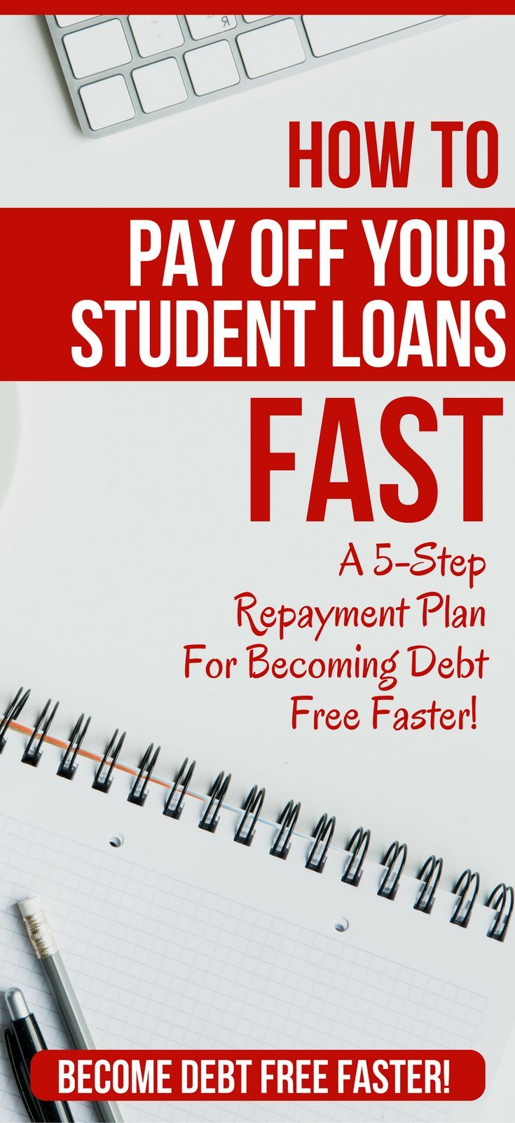How to Pay Off Student Loans Fast in 2018     5 POWERFUL tips for paying off your student loans faster. Get out of debt faster, with this 5 step plan that works on any income.    student loans paying off | paying off student loans | paying off student loans tips | paying off student loans fast | pay off student loans    #debt #debtfree #studentloans #studentloan  via @https://www.pinterest.com/thewaystowealth/