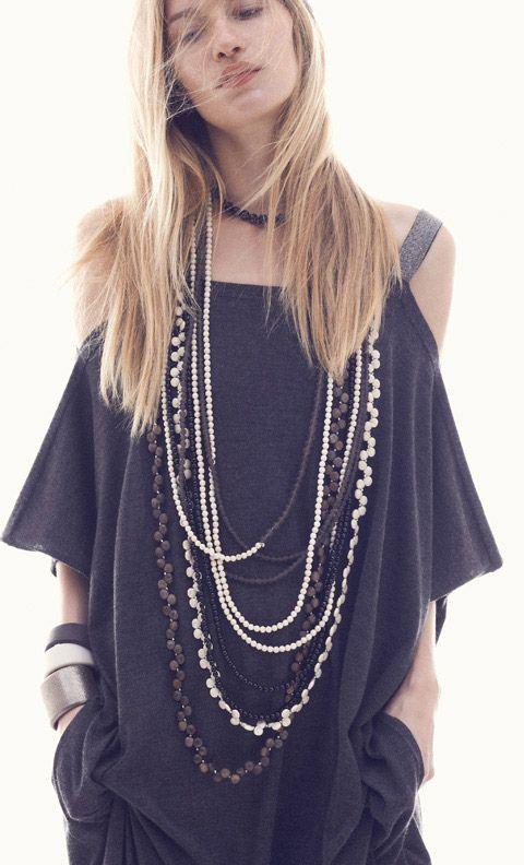 Brunello Cucinelli necklaces, Spring/Summer 2014