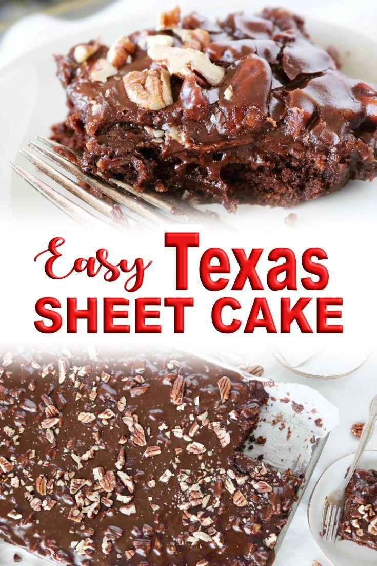 Original Texas Sheet Cake Recipe With Buttermilk Recipe Sheet Cake Recipes Coffee Cake Recipes Chocolate Cake Recipe