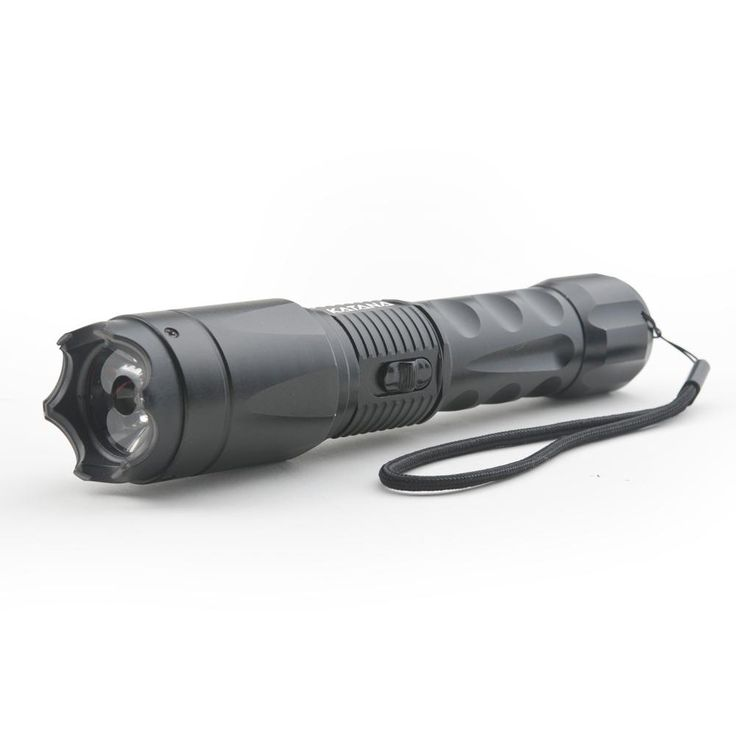 Concealed Stun Gun with Glass Breaker and 400 Lumen Blinding Flashlight - High Voltage Edition, Black