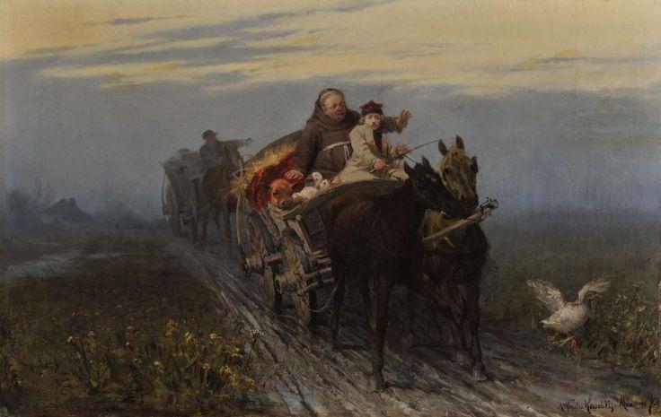 """Alfred Wierusz-Kowalski, """"Powrót kwestarza"""", 1873."""