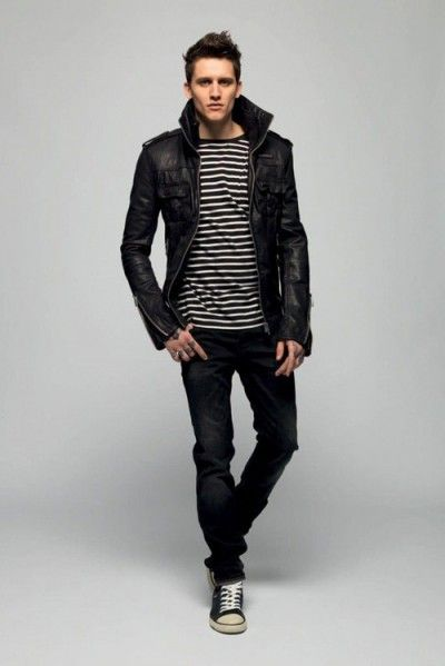 Men's Black Leather Jacket Style   Famous Outfits