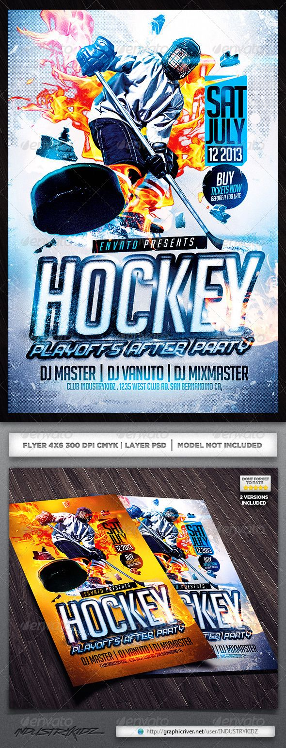 hockey flyer template canada fonts and flyer template. Black Bedroom Furniture Sets. Home Design Ideas