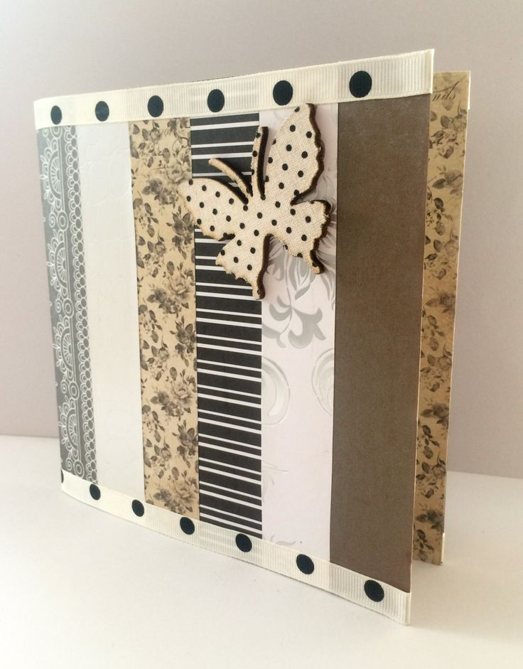Handmade Greetings Card - Unique Card - Blank Card - Elegant - Butterfly Polka Dot - Modern Card - Die Cut Card - Love - Embossed - Paper - de la boutique MademoiselleCraft sur Etsy