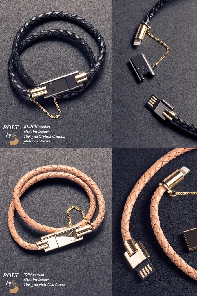 BOLT - Stylish iPhone bracelet charger by CHARLES DARIUS™ http://amzn.to/2rwqPgY