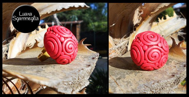 Red ring - Polymer clay