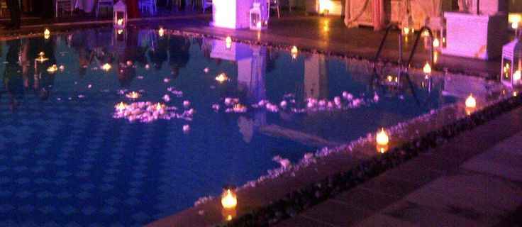 Rocabella pool by night!
