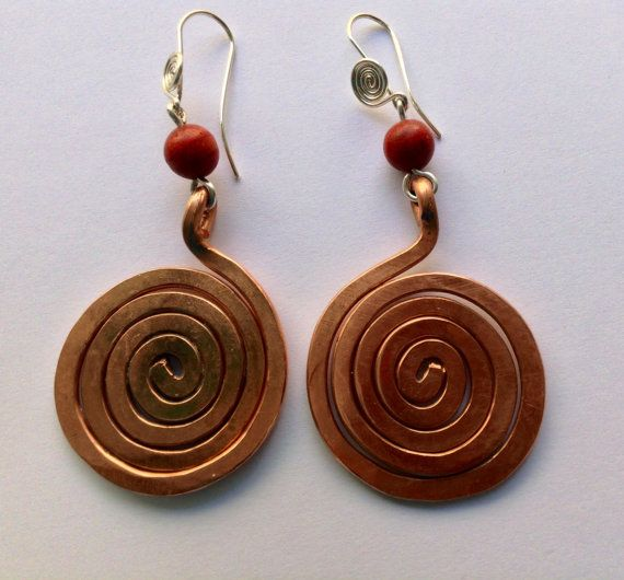 Copper spirals espiral de la vida by LaSombrilla on Etsy