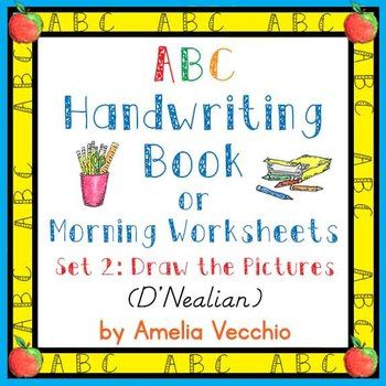 These pages can be made into an ABC Handwriting Book or simply used as morning worksheets. I have made the left hand margin slightly larger so the pages can be bound/stapled together and have added an optional cover if a book is the route you choose to take.