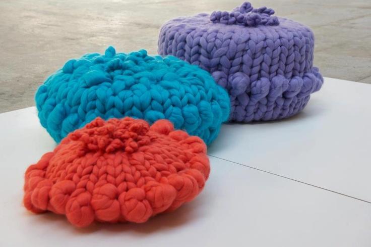 Big Knit Pouffes