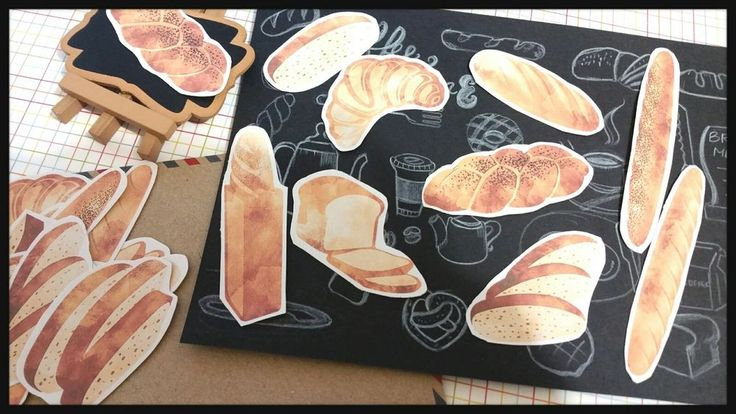 Bread Tea party stickers scrapbook DIY gift craft Card Planner Decor Stickers