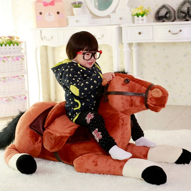 153.00$  Watch now - http://aliyic.worldwells.pw/go.php?t=32779474046 - Fancytrader Giant Stuffed Plush Horse Toys Big Soft Emulational Lying Horse Doll 130cm 51inch Nice Gifts for Children